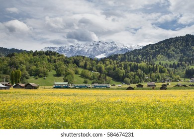 Landscape at Spring near Garmisch Partenkirchen in Bavaria