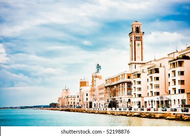 Landscape in spring of the town of Bari in Italy