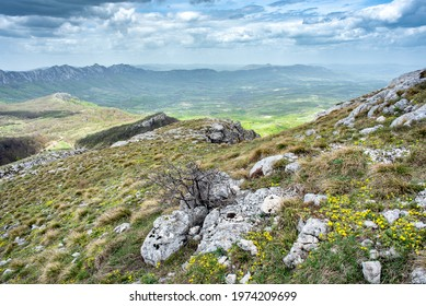 Landscape of Stol mountain in eastern Serbia, near the city of Bor