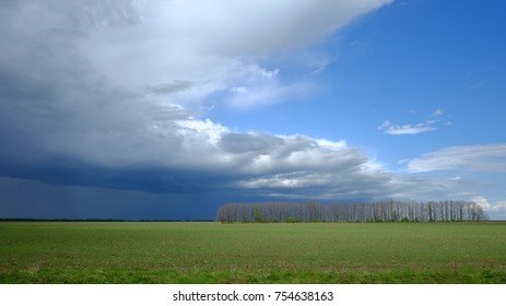 Landscape with stormy skies. Russia.