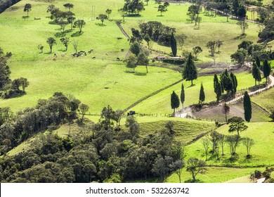 Landscape in Subachoque (Colombia).