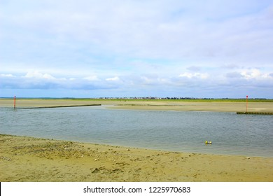 landscape of sum bay in picardy france