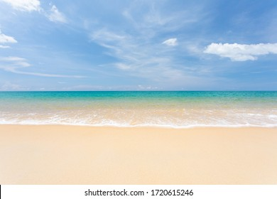 Landscape summer beach background, with sunny sky at the sea in Phuket,Thailand.