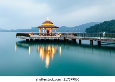 Landscape of Sun Moon Lake in Taiwan