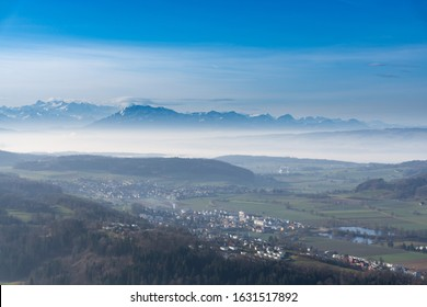 Landscape from Swiss alps from uetliberg