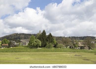 Landscape in Switzerland near Luzern Glarnerland