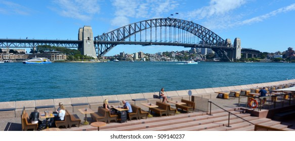 Landscape of Sydney Harbour Bridge in Sydney  New South Wales, Australia