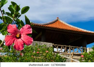 Landscape of Tamarotizaki Viewpoint in Ishigaki Island, Okinawa Japan