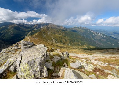 Landscape of Tatra Mountain near Kasprowy Wierch , Poland