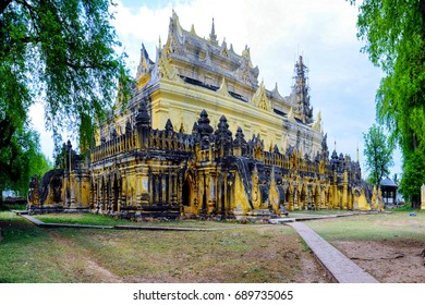 Landscape of the temples in Mandalay - Myanmar