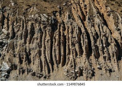 landscape and texture of rock rocks in the rocky terrain