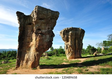 landscape of Thailand stonehenge, Mor Hin Khao
