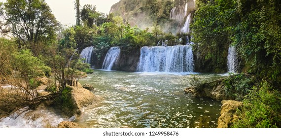 Landscape Thee Lor Sue Biggest Waterfall In Thailand