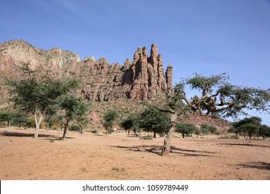 Landscape in Tigray province, Ethiopia