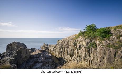 Landscape of Tojinbo Cliff, Fukui prefecture, Japan