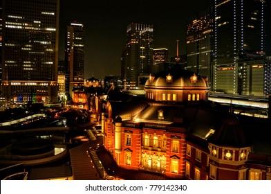 Landscape of Tokyo at night, Japan