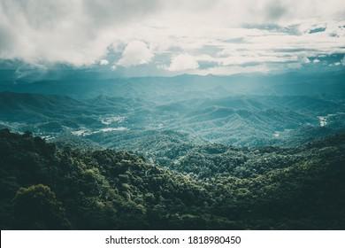 ฺBeautiful landscape from top of Mountain, North of Thailand