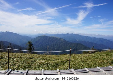 The landscape from top of mountain(Mt.Tsurugi, Tokushima, Japan)