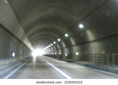 Landscape of tunnel in Hokkaido Japan