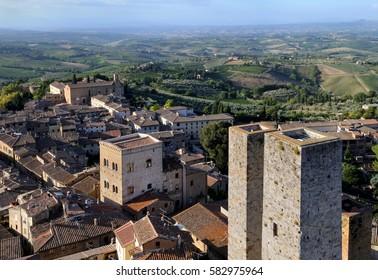 Landscape - Tuscany, San gimignano viewpoint