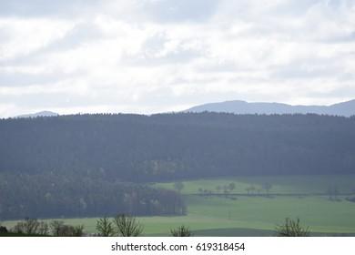 Landscape under blue sky