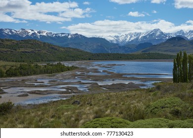 Landscape of Valle Chacabuco in northern Patagonia, Chile