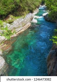 Landscape in Valle Verzasca near Lavertezzo,Ticino Canton,Switzerland