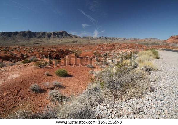 Landschaft des Feuertales, Nevada