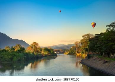Landscape of Vang Vieng ,Laos