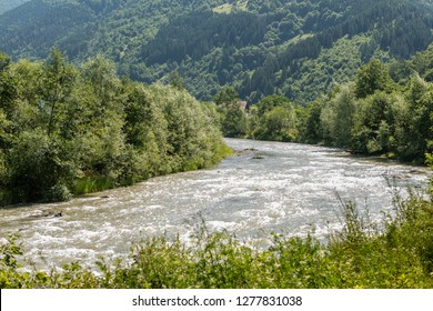 Landscape in Vaser Valley, Bucovina, Mocanita Steam Train, Romania