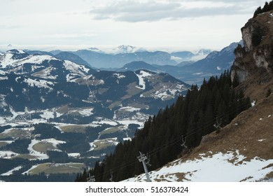 Landscape view of the Alps mountains