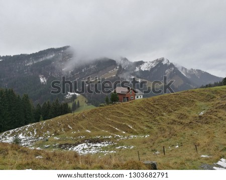 Landscape View Appenzell Switzerland Europe Panorama Stock