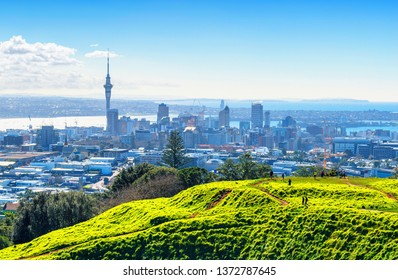 Landscape View to Auckland New Zealand from Mt Eden; Mount Eden Auckland New Zealand