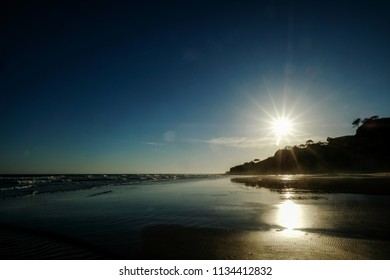 Landscape View of the Beach in Albufeira Portugal Europe on a sunny day