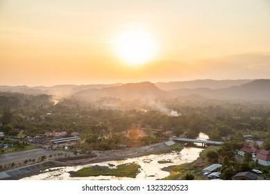 Landscape View is Beautiful Khun Dan Prakan Chon Dam, Nakhon Nayok, Thailand.
