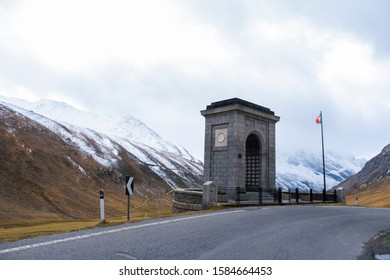 Landscape view beautiful road  at passo dello stelvio Italy.