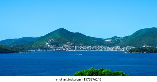 Landscape view of Budva, Montenegro