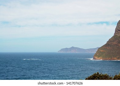 Landscape view of Cape Point in South Africa