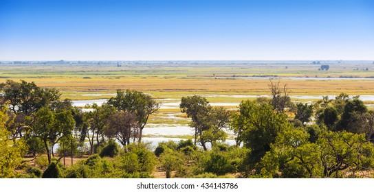 Landscape view of Chobe National Park near Kasane, Botswana, Africa