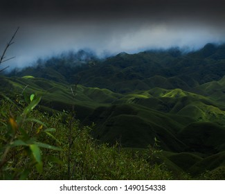 Landscape view of Dzukou Valley, Nagaland,India