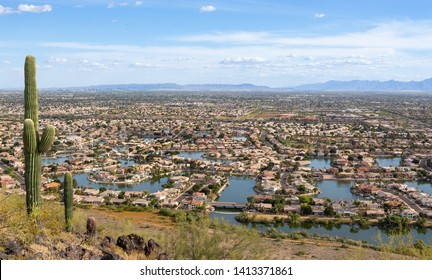 Landscape View Glendale Arizona in summer