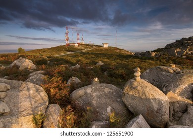 Landscape view of hill top of Foia in Monchique, Portugal.