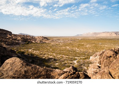 Landscape view of Hueco Tanks State Park in El Paso, Texas.
