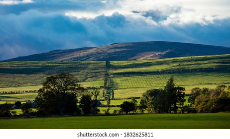 A landscape view of Ingram Valley in the county of Northumberland, England, UK.
