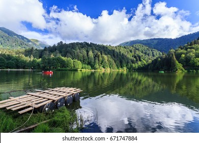 Landscape view of Karagol (Black lake) a popular destination for tourists,locals,campers and travelers in Eastern Black Sea,Savsat, Artvin, Turkey