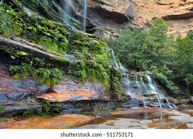 Landscape view of Katoomba Falls Blue Mountains New South Wales Australia