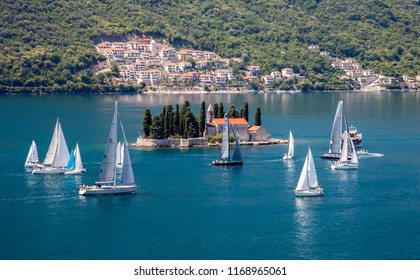 Landscape view in Kotor bay in Montenegro