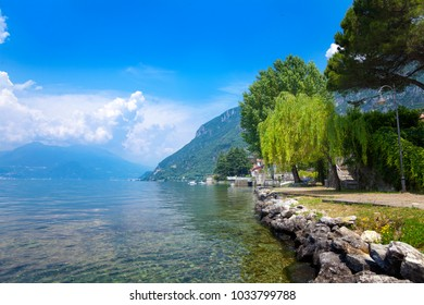 Landscape view from lake Como