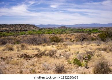 Landscape view from Montezuma Well, a detached unit of Montezuma Castle National Monument