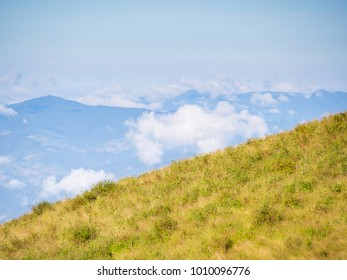Landscape view of natural mountain and sky in the Northern of Thailand, Inthanon national park